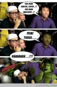 Arya Wiguna ternyata Hulk (lucupol.com)