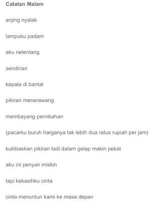 Tips Menikmati Puisi Indri Hapsari