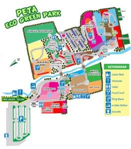 Peta Eco Green Park (nedy-rahasia.blogspot.com)