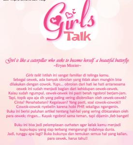Cover belakang Girls Talk