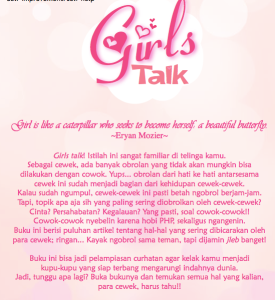 Cover belakang Girls Talk