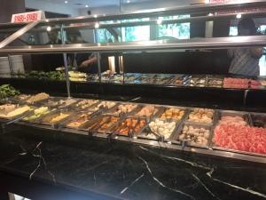 Display bahan makanan yang direbus